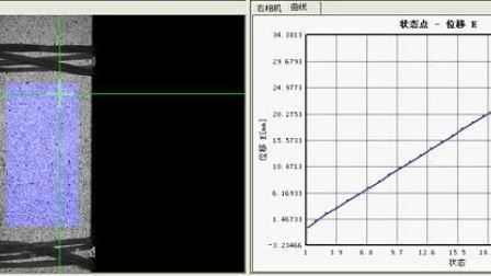 位移场及点位移曲线--数字图像相关法三维全场应变