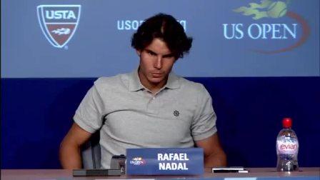 纳达尔采访时腿部抽筋 2011美国网球公开赛男单R3