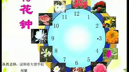 小学三年级语文优质课展示《花钟》人教版周老师