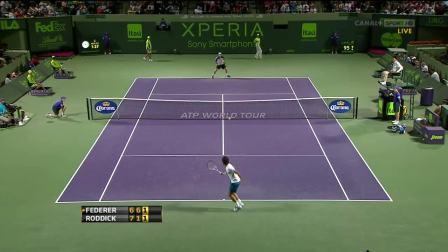 ATP.2012.Miami.R3 罗迪克VS费德勒.罗迪克的4个正手制胜分