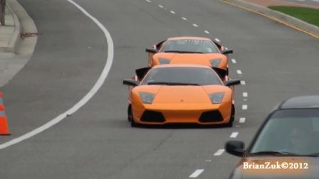 街拍Lamborghini Murcielago LP640 Twins