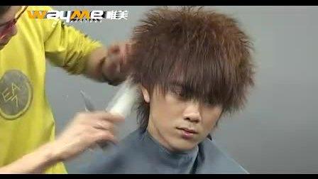 唯美男士烫发,男生发型设计视频教程www.pupufa.cn