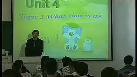 初一英语优质课展示《unit 4 topic 3 what time is it? secti