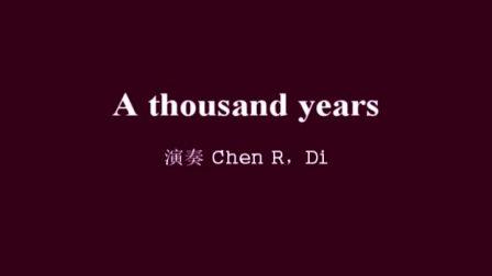 女儿吉他指弹 A thousand years