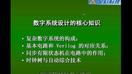021数字逻辑的构成(至芯科技FPGA培训视频教程)