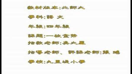 小学四年级语文优质示范课视频《一枚金币》实录与评说吴大凤