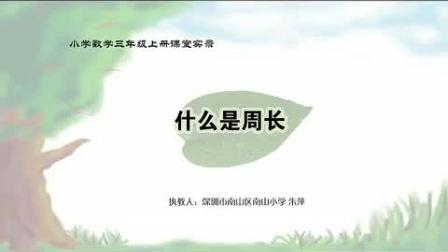 小学三年级数学什么是周长教学视频北师大版朱萍