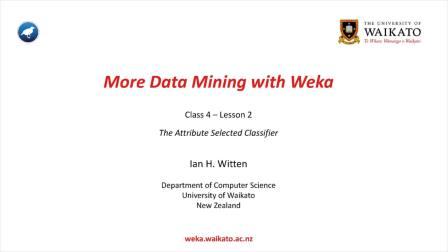 Weka在数据挖掘中的运用之二 4.2 (英文字幕)