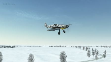 IL2 BOS  BF109 F4 戰鬥機 斷翼降落。