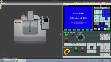 GreatSim的Machining数控加工模拟软件中的三菱e68m演示