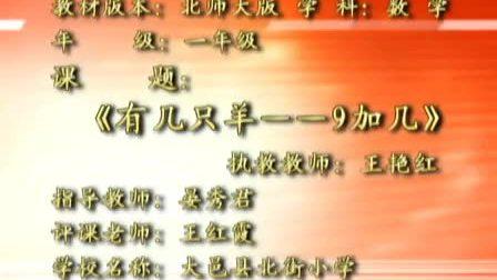 一年级數學北师大版《有几只羊--9加几》王艳红.
