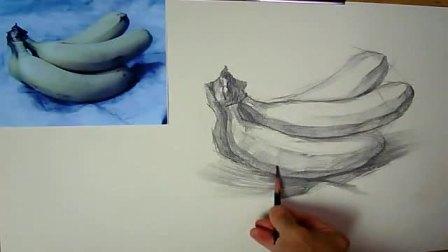 初学素描素描入门者静物, 线条速写教程视频, 素描教程正方形风景素描