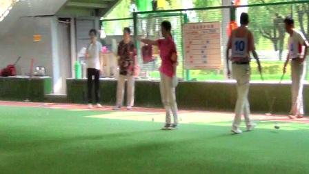 洛阳市三区二县门球联谊赛冠亚军决赛:孟津县队对西工区队
