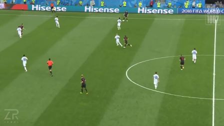 2018世界杯D组 莫德里奇VS阿根廷 全场触球