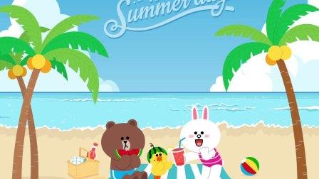 LINE FRIENDS Enjoy Hot Summer Day