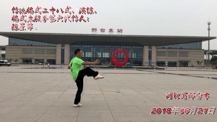 邢台东站太极拳展.
