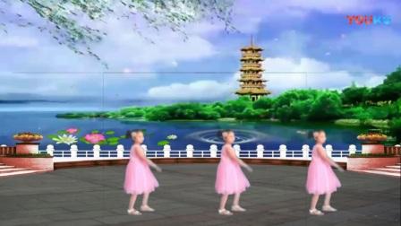 小思怡学跳广场舞【尕撒拉】