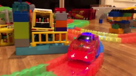 Driving Toy Cars with Racing Elevator