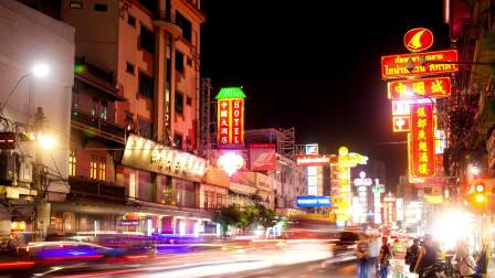 Chinatown time-lapse photography