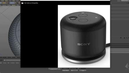C4D创建一个索尼音箱教程