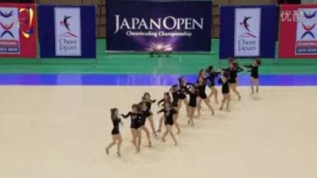 我在2015年日本啦啦操公开赛爵士  日本女子体育大学截了一段小视频