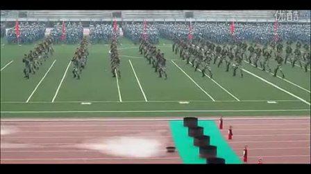 东华大学军训 武警特技表演_标清