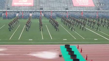 东华2010级军训 武警表演 牛逼的嘞_超清