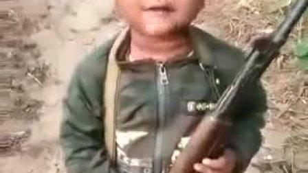 1488933792119缅甸佤邦小孩学军事训练!