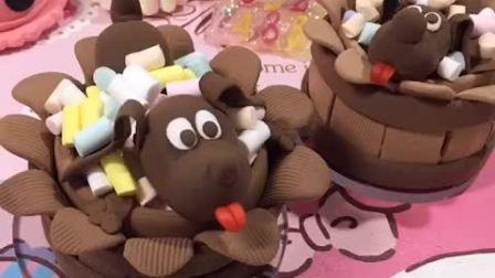 小狗蛋糕 粘土DIY
