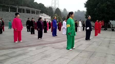 李海水大师团队带领重庆永川学子晨练85式太极拳