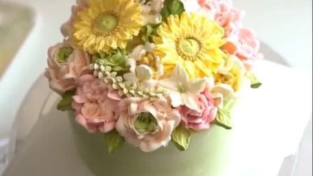 美拍视频: 韩式裱花蛋糕#美食#