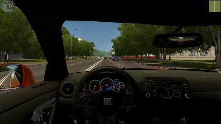 城市汽车驾驶 #11: 日产GT-R R35 2017 | City Car Driving