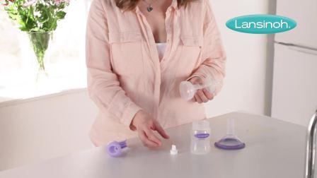 兰思诺手动吸奶器-组装说明