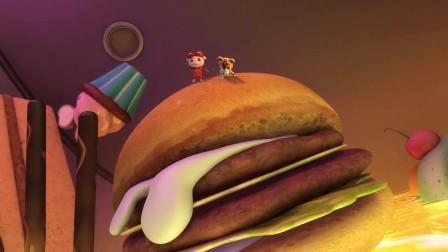 猪猪侠之超星萌宠:小猪猪在危险的情况下,还想着吃!