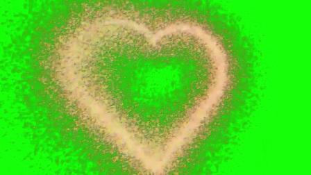 爱心 绿屏抠像 特效素材 浪漫抖音 3_clip
