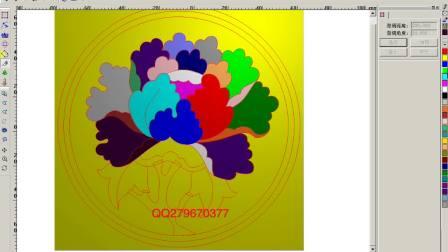 精雕教程之颜色添加设计步骤 浮雕勾线讲解