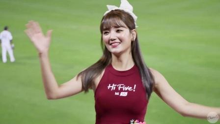 180627 韩国棒球职业联赛 啦啦队美女 정유민 加油