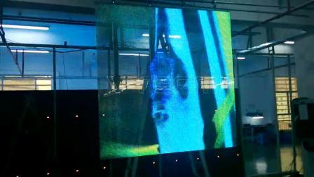 实拍舞台LED透明显示屏播放效果—威特姆光电