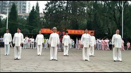 岭上公园-健身气功马王堆导引术展示(1)
