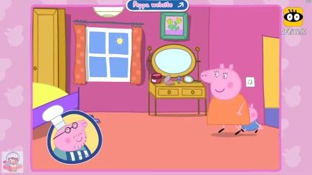趣味动画片 小猪佩奇猪爸爸煎薄饼