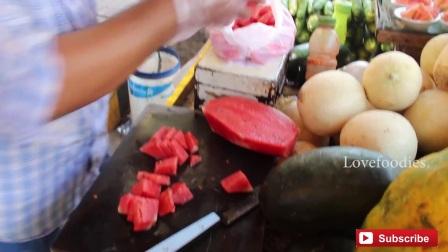 印度西瓜是切块卖的