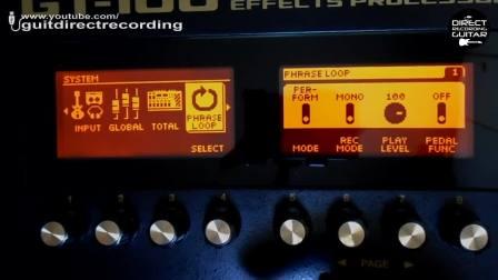 BOSS GT-100 MARSHALL失真模拟(USB直连电脑)音色教程