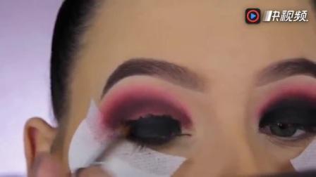 紫色金属烟熏妆化妆教程