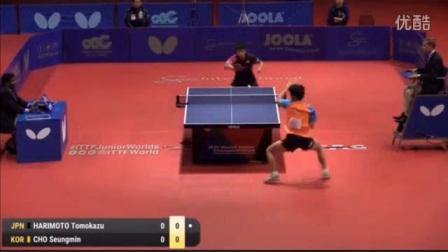 我在2016乒乓球世青赛 男单 决赛  张本智和vs赵承敏 乒乓球比赛视频 完整版截了一段小视频