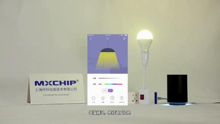 庆科信息智能单品球泡灯VBS1000演示视频