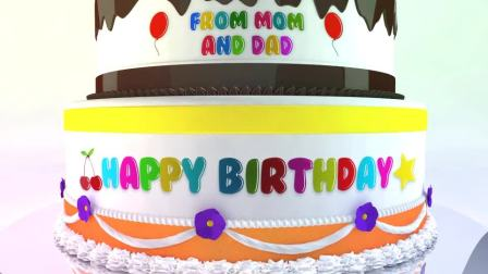 生日婚礼艺术蛋糕祝福动画展示AE模版