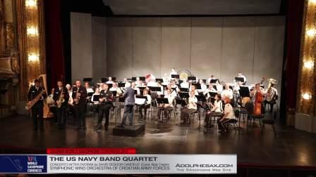 WSC Concerto after Dvorak by David Deboor Canfield - UN Navy Band Quartet