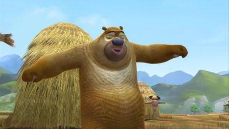 熊二扮稻草人真像, 小鸟都来光顾拉便便, 太好笑了