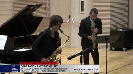 Trio for oboe, basson and piano by Fancis Poulenc - Yo Matsushita & Nikita ZImin