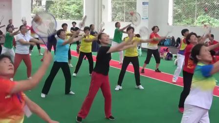 江西省上饶市老年体协柔力球教练员、裁判员培训班